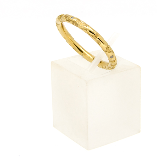 9ct gold and diamond ring
