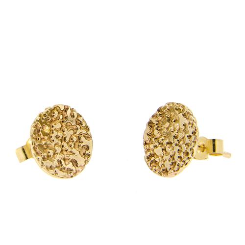 9ct gold lichen studs